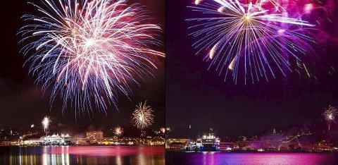 BLE GODT MOTTATT: Her er bildene fra to av leserne som vant Instagram-konkurransen til Sandefjords Blad uka etter nyttårsaften i fjor. (Foto: Bjørn Erik Rønningen/Trond R. Teigen)