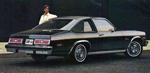 Chevrolet Nova Concours coupe, 1977.