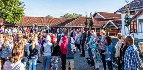 Skolestart på Kroer skole, 17. august 2017.
