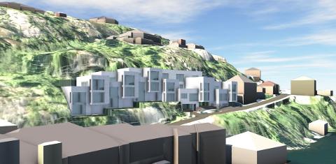 KLEIVAN 5: Planen er oppføring av leilighetsbygg med inntil 16 enheter i østvendt terreng i randsonen til Hollenderbyen. Tiltakshaver for planarbeidet er Jan Erik Hogstad. Planarbeidet utføres av arkitektkontoret Kristiansen & Selmer-Olsen AS.