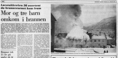 Faksimile fra Bergens Tidendes avis 24. januar 1979. (skjermdump)