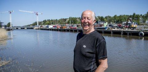 En flott arbeidsplass: – Seutelvens Verksted var som et hjem nummer to for meg, sier Jan Mathiassen. Han jobbet som sveiser og platearbeider der i over 40 år.