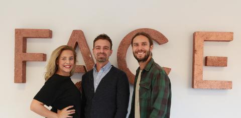UTVIKLES: Maria Sand, Ketil Harvey og Magnus Sand hadde et jubelår med selskapet Face AS i fjor. Nå har de utviklet en helt ny portal de håper kan revolusjonere tv-, film- og reklamebransjen.