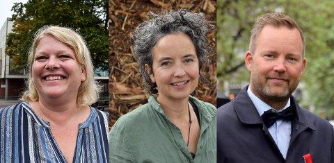 IKKE DETTE VALGET: Christina Bratli (Ap), Jennifer McConachie (MDG) og Niklas Cederby (H) er alle aktive i valgkampen, men stemme får de ikke.