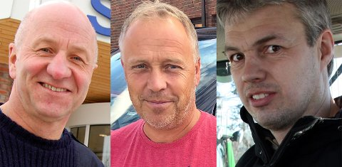 Tore Solberg (fra venstre), Lars Magnus Braaum og Halvard Moe Jacobsen.