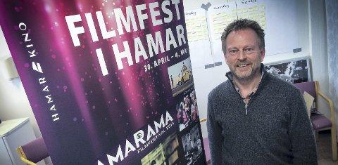 SØKER FESTIVALSJEF: Espen Jørgensen er i gang med jakten på en festivalsjef for filmfestivalen Hamar Filmfestival–Hamarama. Foto: Jo E. Brenden