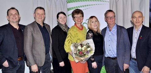Fylkesstyret i Vestfold: Kathrine Kleveland ble gjenvalgt som leder under helgens årsmøte. Foto: Vestfold Sp