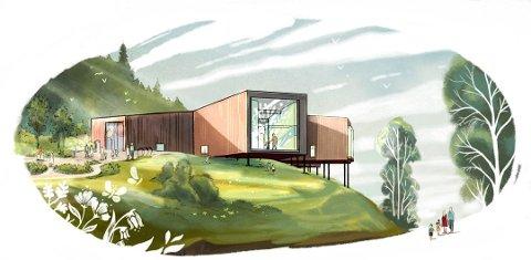 MUSEUM: Plank Arkitekter har tegnet museet som nå Lyngdal kommune ønsker pengene til.