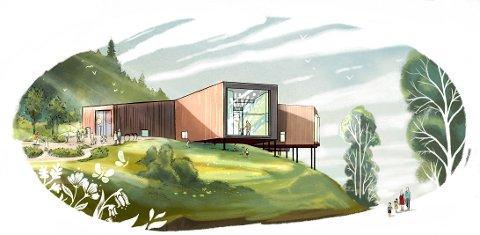 MUSEET: Slik blir Anne-Cath. Vestly-museet seende ut. Arkitektkontor: Plank Arkitekter / Illustrasjon: Sandnes Media