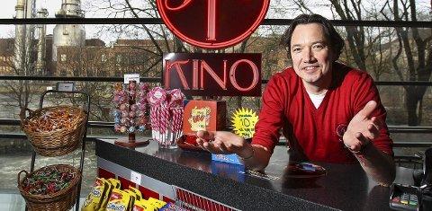 Fornøyd: Tony Fjærgård, marked- og eventansvarlig i SF Kino Moss gleder seg over besøkstallene så langt i år.