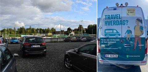 GODT BESØKT PARKERING: Det holdes treninger i Vind idrettspark stort sett hver dag, og de aller fleste må benytte bilen for å komme seg dit. Nå skal det tilbys minibuss.
