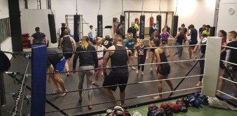 Nye lokaler: Berserk K-1 Kickboxingklubb har fått bedre plass i lokalene ved siden av Armada Bokseklubb, rett ved XXL i Ski.foto: privat