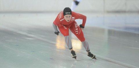 SØLVGUTT: Ole Bjørnsmoen Næss sikret seg nok en sølvmedalje i NM på 10.000-meter. (Foto: Marthe Stenberg)