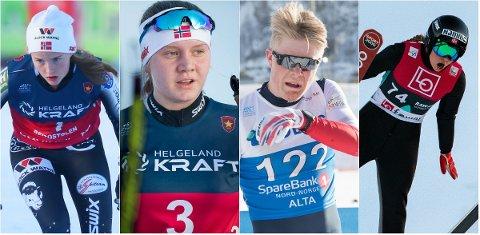 VM-KLARE: Fra venstre: Gyda Westvold Hansen, Marte Leinan Lund, Joachim Aurland og Hanna Midtsundstad.