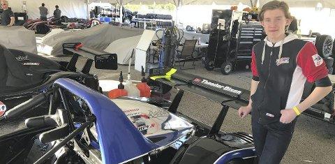 RÅTASS: Theodor Olsen skal kjøre en Radical Spyder RPE V8 i North American Masters.Foto: Privat