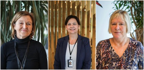 Bjørghild Underhaug, Tove Valdeland og Irene Jørgensen mener de har verdens beste jobb.