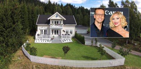 SELGER: Villaen til blogger Caroline Berg Eriksen og ektemannen Lars-Kristian Eriksen kommer straks ut for salg.