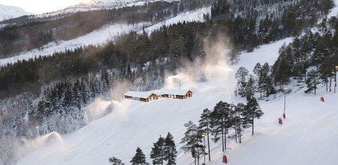 VARMESTUE: Slik ser driverne og styret for alpinsenteret for seg at en framtidig varmestue i Surnadal Alpinsenter kan blim plassert et stykke oppe i bakken.