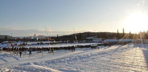 Flott, også om kvelden: I lysløypa ved Beitostølen Skistadion er det flotte tilhøve, men tilgangen vil vere noko avgrensa i samband med Beitosprinten fram mot helga.illustrasjonsfoto: kåre strande