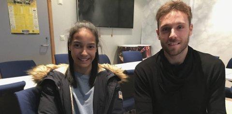 Stjernetreff: Jose Angel og Hanne Marit Hemmingsen møttes etter trening på Aspmyra. Foto: Freddy Toresen