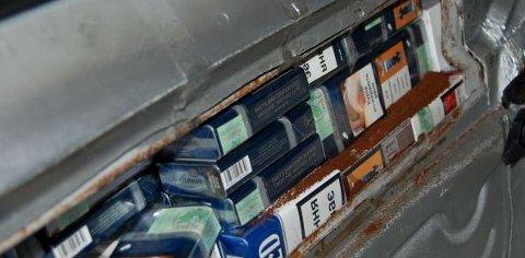 Sigarettane var skjult i eit konstruert holrom.