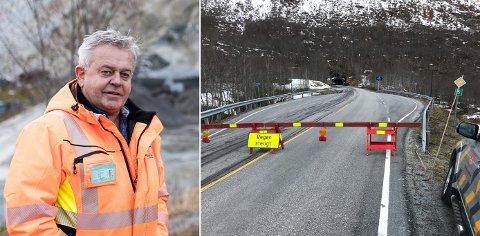 FEKK IKKJE KONTRAKTEN: Magne Hafstad AS var einaste lokale anbodstilbydar, men måtte sjå kontrakten gå til Sunnmøre. Til høgre ser vi Fjærlandstunnelen, ein av tunnelane som no skal utbetrast.