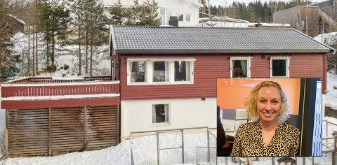 HØY PRIS: Prisantydningen på dette huset fra 1968 var på 2.990 000. De nye eierne bladde opp hele 1,4 millioner mer. Huset har et bruksareal på 190 kvadratmeter.