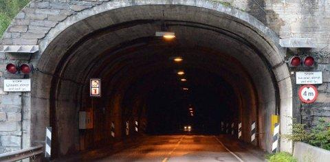 UP hadde fartskontroll i denne tunnelen laurdag kveld. Arkivfoto