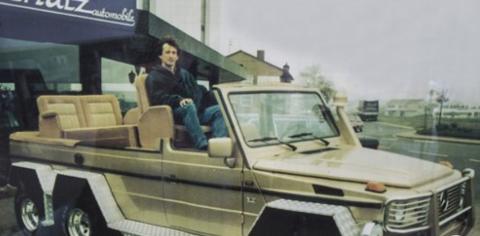 SPESIALBESTILLING: I 1994 fikk Hans J. Klausen. og Autocenteret Fjeldstad i Holmestrand telefon. Resultatet ble en spesialbygget jaktbil til det saudiarabiske kongehuset.