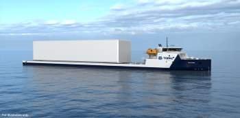 Norsafe skal levera livbåtar til denne typen frakteskip. (Foto henta frå Norsafe.com).