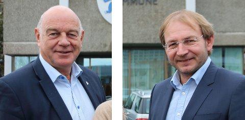 FORKLARER: Trond Johansen (KrF) og Rune Kjølstad (H) stemte i mot punktet i uttalelsen som berører Kongsberg sykehus, men sier at de ikke er i mot.