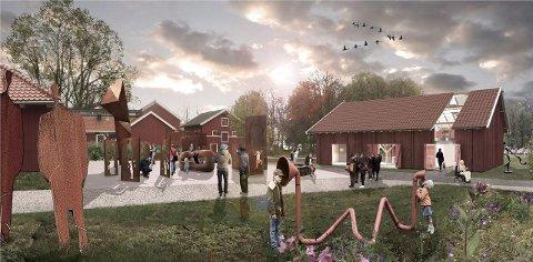 Slik kan det bli: Slik ser Jansen arkitekter for seg at det nye kultursenteret i det gamle vognskjulet på Alby kan bli. Ill: Jansen arkitekter