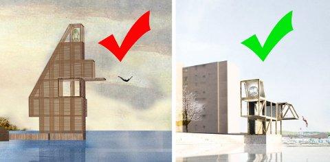 SKROTET: Planene om en folkepark, med blant annet et stort stupetårn på Rabben, måtte skrotes. Nå skal Fleischer Brygge få et mindre stupetårn med badehus og badstu.