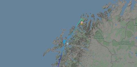 OMDIRIGERT: Dårlig vær gjorde at flyet ble sendt til Tromsø.