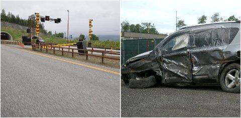 LETTERE SKADD: Alle de tre involverte i ulykken kom fra det med lettere skader. At ingen døde er nærmest et under.