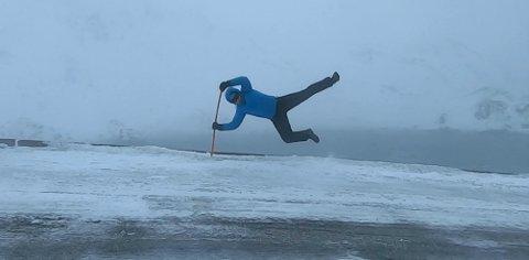MYE VIND: I Kamøyvær var det mandag sterke vindkast.