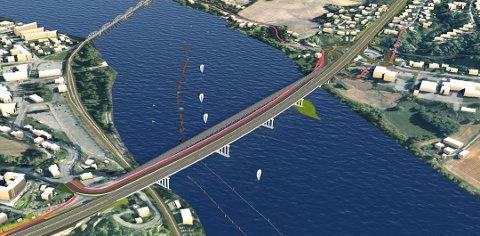 GÅR FOR A2: Onsdag vedtok kommunestyret å gå for A2, som er forslaget fra Statens vegvesen. Dette er også det billigste alternativet.