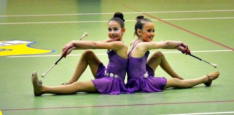 Ane Wiik og Amalie Haga fremførte for første gang sin drilldans duett. Alle foto: Aleksander Ingvaldsen