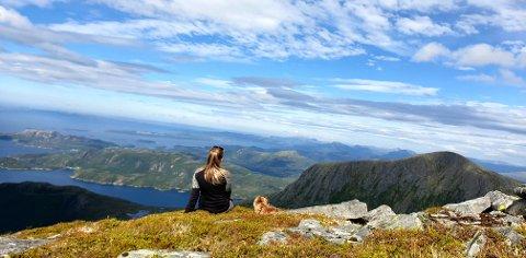 Inderbergsalen på Tustna med utsikt over Aurefjella 2019