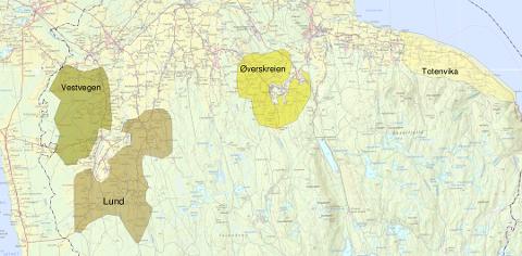 Dette er områdene Østre Toten kommune ønsker å prioritere for bredbåndsutbygging i anbudskonkurransen som nå lyses ut på nytt.