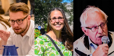 PÅ VARALISTA: Sverre Strand Teigen (H), Ulrika Jansson (MDG) og Arne Hillestad (FrP) er blant de valgte vararepresentantene til kommunestyret.