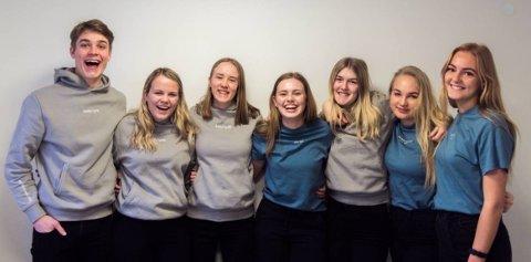 INNTAK: Tall fra videregående skole er klare. Bildet viser elever fra KVSmerch UB fra KVS-Lyngdal som i vår deltok i NM for Ungdomsbedrifter.