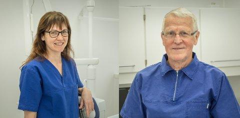 DRIV SAMAN: Wenche Heggernes Lunde og Sverre Jon Heggernes driv tannlegepraksis på Sande saman.