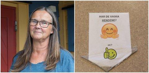 GULT NIVÅ: – Det blir nok gult nivå framover, seier Ragnhild Hukset i Hatlehaugen barnehage.