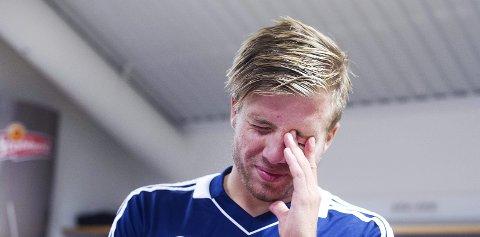 Nedtur: Simen Rafn og Lillestrøm rykket ned fra eliteserien onsdag.
