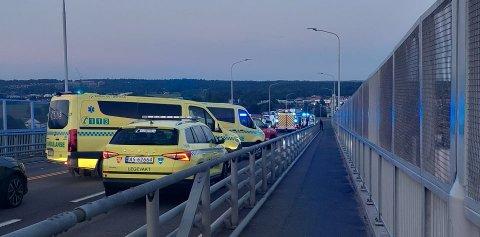 Alle nødetatene var raskt på stedet etter melding om ulykken kom.