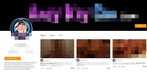 TJENE PENGER: Mannen publiserer også videoene han tar av de unge jentene på ett av verdens største pornosider, bak betalingsmur.