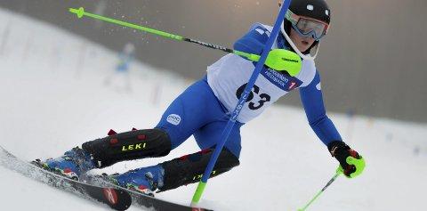 33. PLASS: Torjus Helgaker kjørte inn til en fin 33. plass i slalåm.