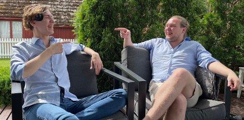 POMPEL OG PILT: Jan Hegstad (t.v.) og Sigurd Søbye i markedsføringsbyrået Visivo er motpoler som utfyller hverandre.