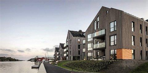 VINNERPROSJEKT: Bakke Leiligheter og Scandinavian Property Groups prosjekt Bruket Brygge ble kåret til Årets leilighetprosjekt i 2021.